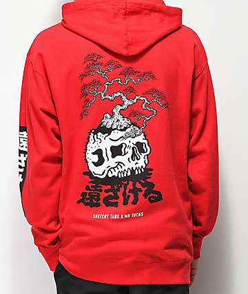 Lurking Class By Sketchy Tank x Mr. Tucks Lurker Red Bonsai Hoodie