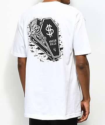Lurking Class by Sketchy Tank Dollars camiseta blanca
