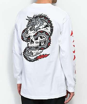 Lurking Class by Sketchy Tank Dragon Skull camiseta blanca