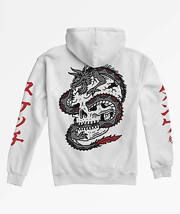 Lurking Class by Sketchy Tank Dragon White Hoodie