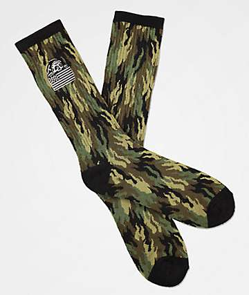 Lurking Class by Sketchy Tank Fuego Camo Crew Socks