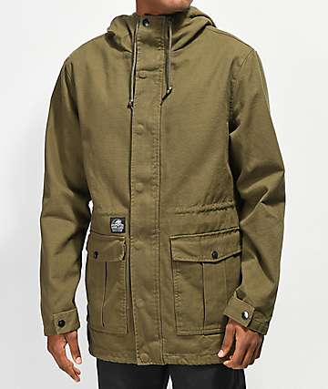 Lurking Class by Sketchy Tank Fuegoflage Lined Olive Jacket
