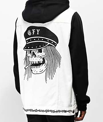 Lurking Class by Sketchy Tank GFY Black & White 2Fer Jacket