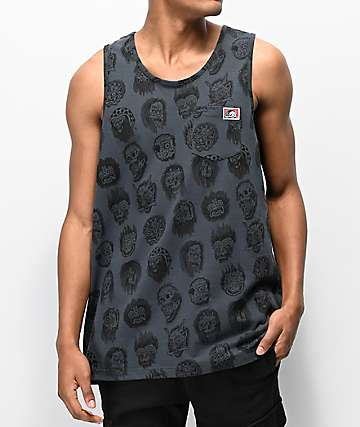 Lurking Class by Sketchy Tank Heads Charcoal Tank Top