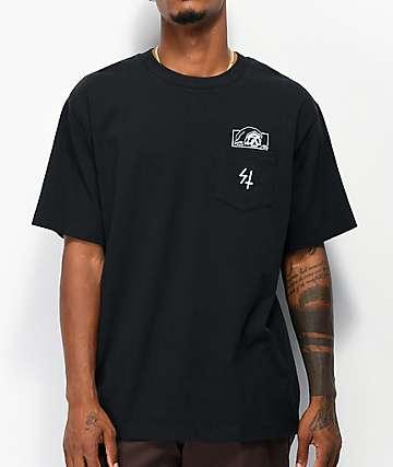 Lurking Class by Sketchy Tank High Density Lurker Black Pocket T-Shirt