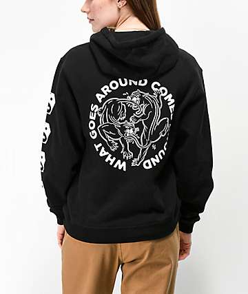 Lurking Class by Sketchy Tank Karma 2 Black Hoodie
