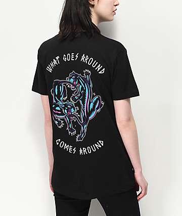 Lurking Class by Sketchy Tank Karma Blacklight camiseta negra