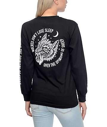 Lurking Class by Sketchy Tank Opinions camiseta negra de manga larga