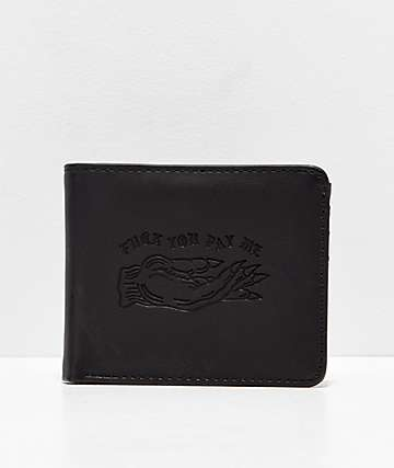 Lurking Class by Sketchy Tank Pay Me Black Bifold Wallet