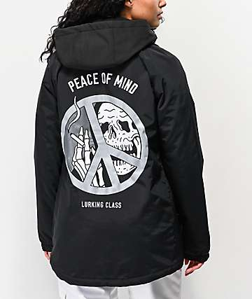 Lurking Class by Sketchy Tank Peace Of Mind Black Coaches Jacket