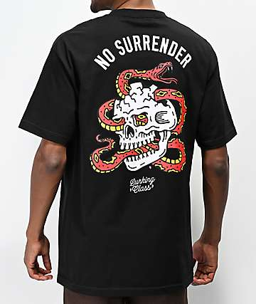 ee1d7d376842 Lurking Class by Sketchy Tank Surrender Black T-Shirt