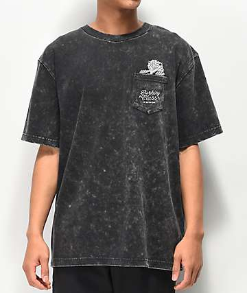 Lurking Class by Sketchy Tank Wolf Pocket Black Tie Dye T-Shirt