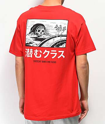 Lurking Class by Sketchy Tank x Mr. Tucks Lurker Red T-Shirt