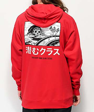 Lurking Class by Sketchy Tank x Mr. Tucks Red Hoodie