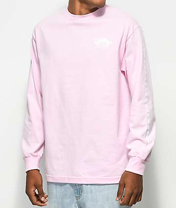 Made In Paradise Logo Long Sleeve Pink T-Shirt