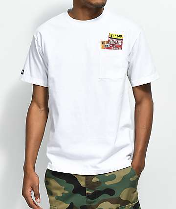 Made In Paradise Stash Pocket White T-Shirt