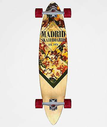 """Madrid Orchid 38"""" Pintail Longboard Complete"""