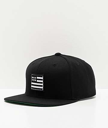Madson Empire Flag Black Snapback Hat