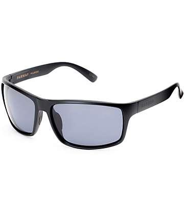 Madson Fairway Matte Black & Grey Polarized Sunglasses