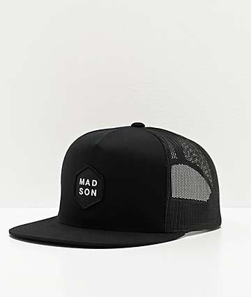 Madson Hex Black Trucker Hat
