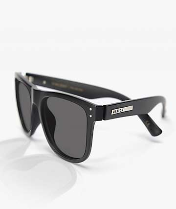 Madson Metro Matte Black & Grey Polarized Sunglasses