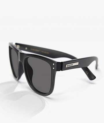 Madson Metro Matte Black & Grey Polarized Sunglasses