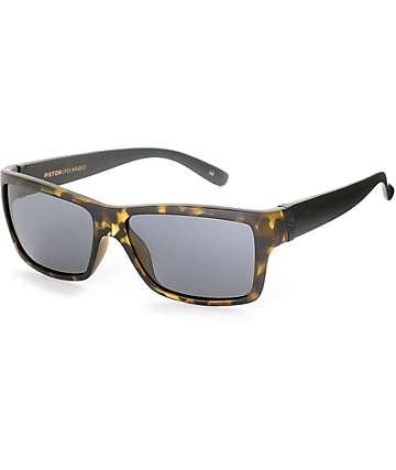 Madson Piston Tortoise gafas de sol polarizados en gris y negro
