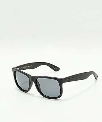 Madson Vincent Black & Grey Polarized Sunglasses