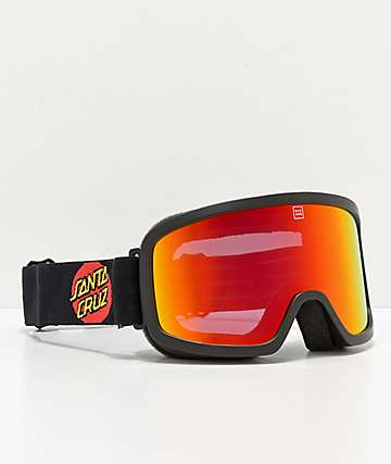Madson x Santa Cruz Time Machine Screeming Hand Snowboard Goggles