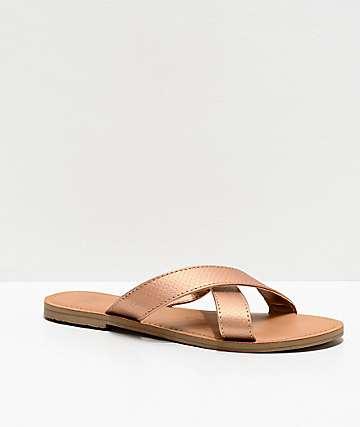 Malvados Neko Reptile Cognac Sandals