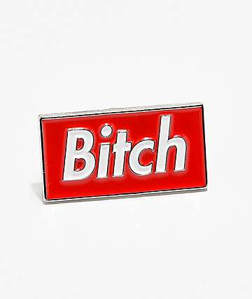 Married To The Mob Bitch In A Box Enamel Pin