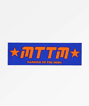Married To The Mob Blue & Orange Sticker