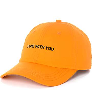 Married To The Mob Done With You Orange Baseball Hat