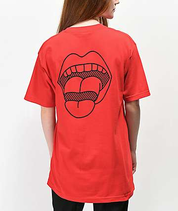 Married To The Mob Lips Red T-Shirt