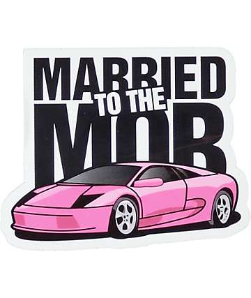 Married To The Mob Pink Lambo Sticker