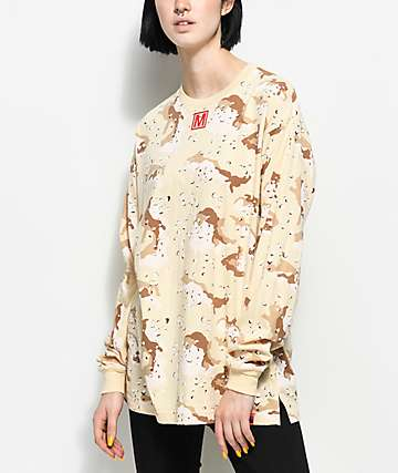 Married To The Mob Storm Desert Camo Long Sleeve T-Shirt