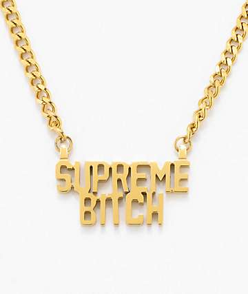 Married To The Mob Supreme Bitch Nameplate Necklace