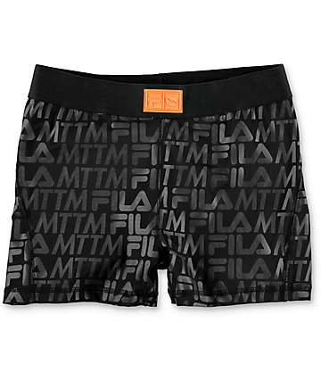 Married To The Mob x Fila Flex Black Compression Shorts