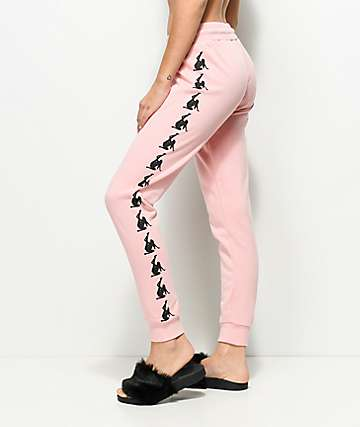 Married To The Mob x Penthouse Dancer Light Pink Joggers
