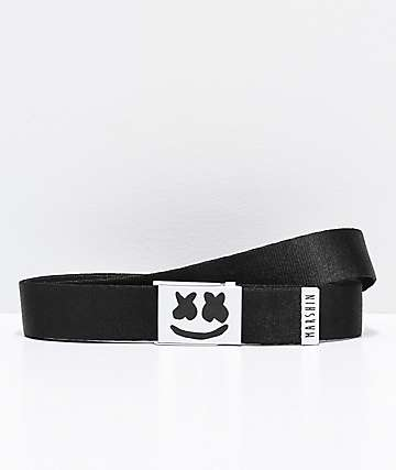 Marshin Black Web Belt