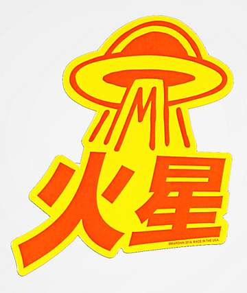 Marshin Space Ship Sticker