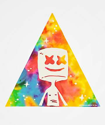 Marshin Tie Dye Triangle Sticker