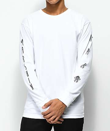 Marshin Vertically Type White Long Sleeve T-Shirt
