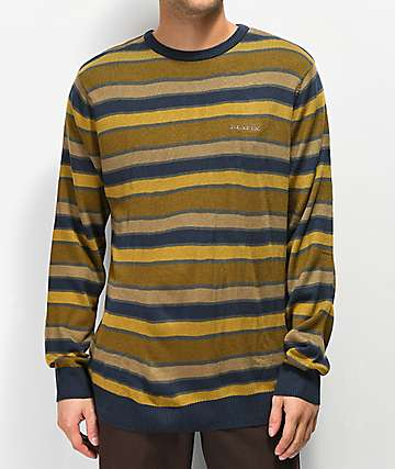Matix Classic Gold & Navy Striped Sweater