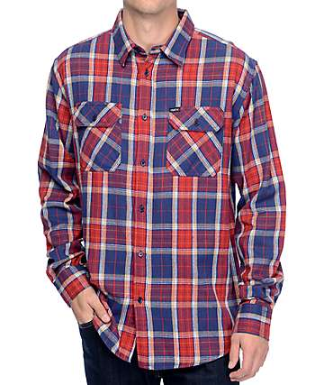 Matix Hamilton Red Long Sleeve Woven Button Up Shirt