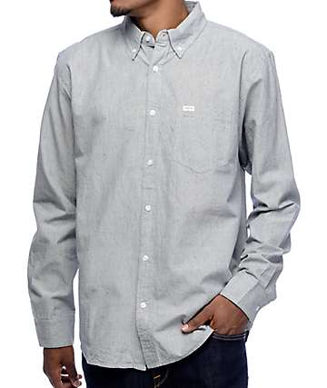 Matix Langston Blue Long Sleeve Button Up Shirt
