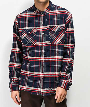 Matix PV Thermal Navy & Red Flannel Shirt