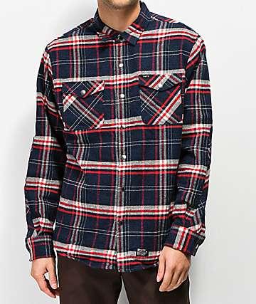 Matix PV Thermal camisa de franela en azul marino y rojo