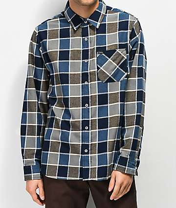 Matix Point Blue & Khaki Flannel Shirt