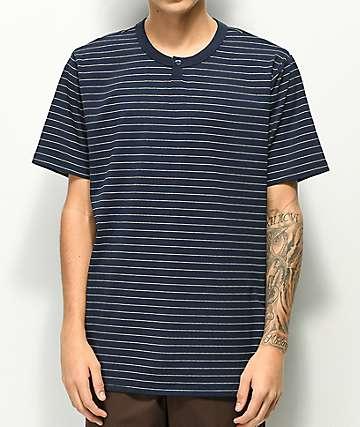 Matix Reserve Navy Stripe Henley T-Shirt